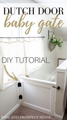 dutch door baby gate DIY tutorial