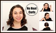 I show you how to get super quick and easy no heat curls overnight!