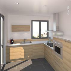 cuisine moderne bois chêne | work tops, modern kitchens and armoires - Meuble Cuisine Scandinave