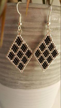 Seed Bead Jewelry, Bead Jewellery, Beaded Jewelry, Beaded Bracelets, Beaded Earrings Patterns, Jewelry Patterns, Bead Earrings, Earrings Handmade, Handmade Jewelry