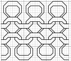 Imaginesque: Black Purl Blackwork (or Cross Stitch) Fill Pattern