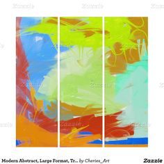 Modern Abstract, Large Format, Triptych Wall Art