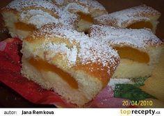 Hrníčkové meruňkové řezy recept - TopRecepty.cz Sweet Desserts, Sweet Recipes, Relleno, Nutella, French Toast, Sweet Tooth, Sweets, Bread, Baking