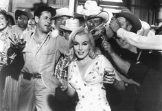 On set for The Misfits Marilyn steals the limelight in this candid shot. Read our review here http://www.moviemail.com/blog/cinema-reviews/2537-The-Misfits-Film-of-the-Week/…