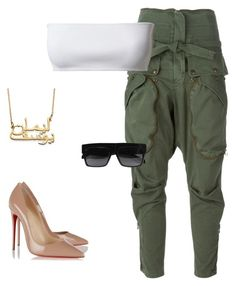 """Foreign love"" by purlove on Polyvore featuring Faith Connexion, Christian Louboutin, CÉLINE, Summer, love, croptop, Sexy and foreign"
