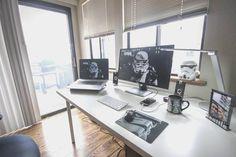 Description: interested in making computer desk for your study? Office Setup, Pc Setup, Desk Setup, Studio Room, Studio Setup, Dream Desk, Diy Computer Desk, Desks For Small Spaces, Gaming Room Setup