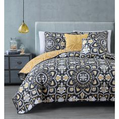5-piece Quilt Coverlet Set Medallion Bohemian Avondale Manor Ibiza, Blue/Coral | Home & Garden, Bedding, Quilts, Bedspreads & Coverlets | eBay!
