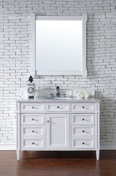 """Brittany 48"""" Single Cabinet, Cottage White"""