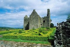 Tully Castle ruins in County Fermanagh, Ireland