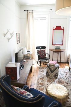 """Lee& """"First Apartment with a Bedroom Door"""" in Brooklyn — House Call Small Living, Home And Living, Brooklyn House, First Apartment Decorating, Bedroom Doors, Apartment Living, Apartment Therapy, Apartment Interior, Apartment Ideas"""