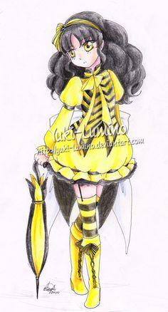 Sólo un personaje que yo quería crear hace algún tiempo. Quería una pequeña dama con la caracterización de las abejas. Señora de la abeja.  Creo que no es muy malo, ¿verdad? owo -Carácter: Señora de la abeja por: -media: 0.2 rotring, lápiz y lápices de colores Faber-Castell.