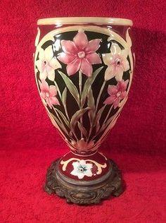 Gorgeous-Antique-Majolica-Art-Nouveau-Vase-gm899