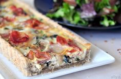 Spinach-Brie and Prosciutto Tart with Pecan Crust