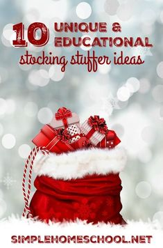10 unique, educational stocking stuffer ideas - Simple Homeschool