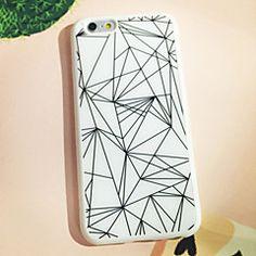 motif noir et blanc cas de retour de triangle pour iphone 6s 6 plus