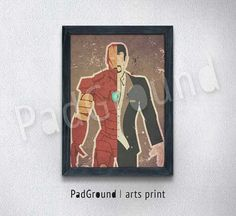 Iron Man Tony Stark Avengers Superhero Canvas Print by PadGround