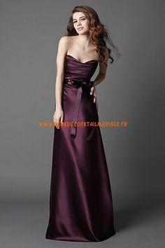 Robe pourpre pas cher 2013 longue robe de soirée satin