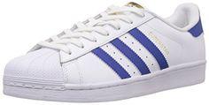 adidas Superstar Foundation, Unisex-Erwachsene Sneakers, Weiß (Ftwr White/Collegiate Royal/Ftwr White), EU 42 - http://on-line-kaufen.de/adidas/42-eu-adidas-superstar-foundation-unisex