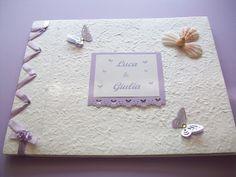wedding guestbook tema mare e farfalle
