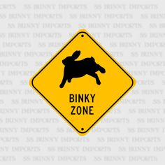 "Binky Zone, happy bunny; pet rabbit sign, aluminum, 6"", glossy black on caution yellow by SSBunnyImports on Etsy https://www.etsy.com/listing/475292823/binky-zone-happy-bunny-pet-rabbit-sign"