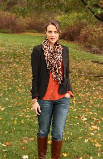 cf919e8d42c jacket and scarf with riding boots over jeans - fall staple! Penny Pincher  Fashion