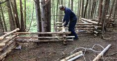 Learn how to build a zig-zag rail fence around all sorts of obstacles and on uneven terrain. It's patterned after the old-style split rail fence.