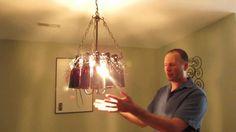 Diy beerb ottle chandelier