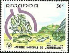Sello: Fish (Ruanda) (World Food Day) Mi:RW 1161,Sn:RW 1077,Yt:RW 1041