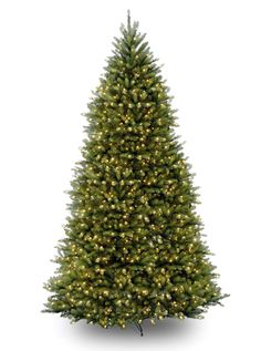 National Tree Company Pre-Lit Dunhill Fir Hinged Artificial Tree with 1500 Clear Lights, Green Christmas Tree Clear Lights, Pre Lit Christmas Tree, Christmas Central, Christmas Ideas, Christmas Holiday, Holiday Ideas, Xmas Trees, Green Christmas, Christmas Pictures