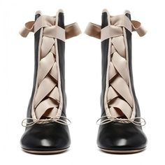 Black and nude Ankle-wrap booties (11,960 MXN) ❤ liked on Polyvore featuring shoes, boots, ankle booties, ankle strap boots, kohl boots, nude boots, black boots and ankle strap booties