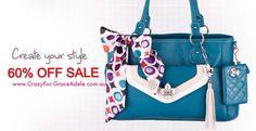 HUGE 60% OFF SALE Grace Adele!! Handbags, Clutches, Wallets, accessories & jewellery! Sale starts June 3rd! Www.CrazyFor.GraceAdele.com.au