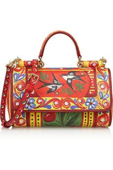 Dolce & Gabbana Mini painted textured-leather shoulder bag | NET-A-PORTER