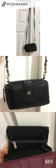 Cross body wallet/phone case Cross body wallet with room for your phone. Can also fit a set of keys, so it's perfect for a night out! Strap is adjustable. Made with real leather and the exterior are calfskin. Never used. Bags Crossbody Bags