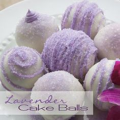 Purple cake ball instructions, heavy on the icing -- and you bake the cake in a regular pan.