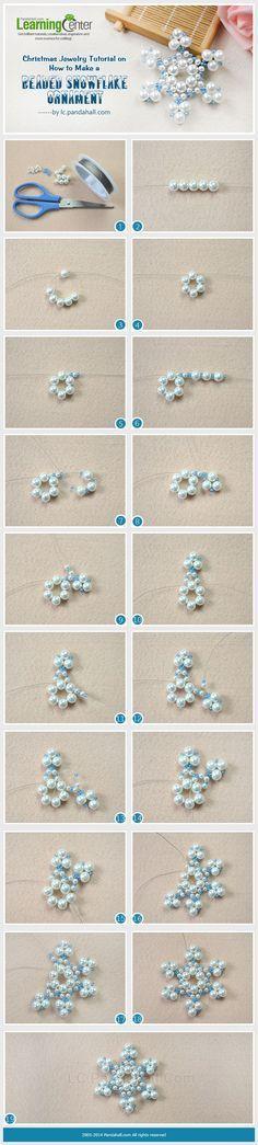 Schneeflocke aus Perlen                                                                                                                                                      Mehr