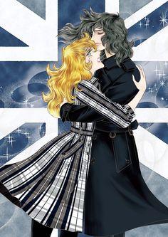 ©Ikeda Riyoko Production オスカル メンズトレンチコート¥190,000 マリー・アントワネット ショートトレンチコート ¥110,000 昨年、オスカルとアンドレがトレンチコートを着たビジュアルを、覚えている人もいるのでは? 英国ブランド「アクアスキュータム」と漫画『ベルサイユのばら』がこの春、再びタッグを組む。トレンチコートにフィ... Lady Oscar, 3 Characters, Beautiful Couple, Comic Artist, Marie Antoinette, Anime Love, Cute Art, Sailor Moon, Light And Shadow