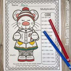 Need Some Seasonal Fun for Two-Digit By Two-Digit Multiplication? Two Digit Multiplication, Multiplication Activities, Fun Activities, Addition Activities, Christmas Worksheets, Christmas Math, Christmas Ideas, Christmas Color By Number, Christmas Colors