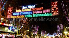 Christmas lights in Barcelona
