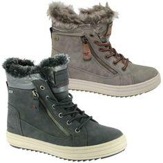 Gr 37-41 Rieker Damen Boots Stiefelette Warmfutter Grau SONDERPREIS