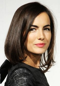 Camilla Bella's amazing hairstyles including this adorable mid-length bob