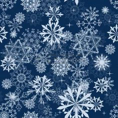 Seamless snowflakes background for winter and christmas theme. illustration. photo