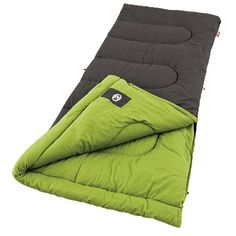 Coleman Duck Harbor Cool Weather Sleeping Bag. 33-Inchx75-Inch -- fits most up to 5-Inch11-Inch. 3 lbs. of ColeTherm insulation keeps you comfortable at 50° to 30Degree Fahrenheit. Cotton cover and cozy cotton-flannel liner. ComfortSmart technology keeps heat in, insulation in place, zippers working right, and comfort a priority. Roll Control locks bag in place for easier rolling.