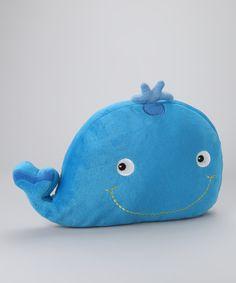 Blue Whale Plush Pillow