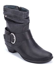 Another great find on #zulily! Black Brujas Leather Bootie - Women by Pikolinos #zulilyfinds