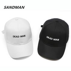 SANDMAN Embroidery Letter Dead Man Cap Adjustable Hip Hop Snapback Baseball Caps Men Women Fitted Trucker Dad Hat Bone