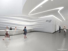 Corporate Office Design, Dental Office Design, Medical Design, Futuristic Interior, Futuristic Design, Concept Models Architecture, Architecture Design, Zaha Hadid Interior, Showroom Design