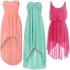 multi colour hi low dresses which are really comfy for wear and look nice. Hi Low Dresses, Pretty Dresses, Beautiful Dresses, Prom Dresses, Summer Dresses, Hi Low Bridesmaid Dresses, Elegant Dresses, Bridesmaids, Formal Dresses