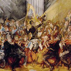 Max Oppenheimer - - Gustav Mahler conducts the Vienna Philharmonic Orchestra, detail Gustav Mahler, Max Oppenheimer, Alma Mahler, Vienna Philharmonic, Art For Art Sake, Orchestra, Art Blog, My Arts, Central Europe