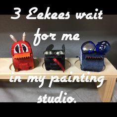 My creative fairy Eekees wait for Friday. #mixedmediaart #305artist #Eekee #artistresidency begins!
