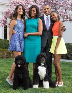 La familia Obama en la Casa Blanca.